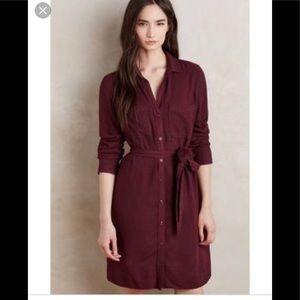 Cloth and Stone Tunic Belted Shirt Dress